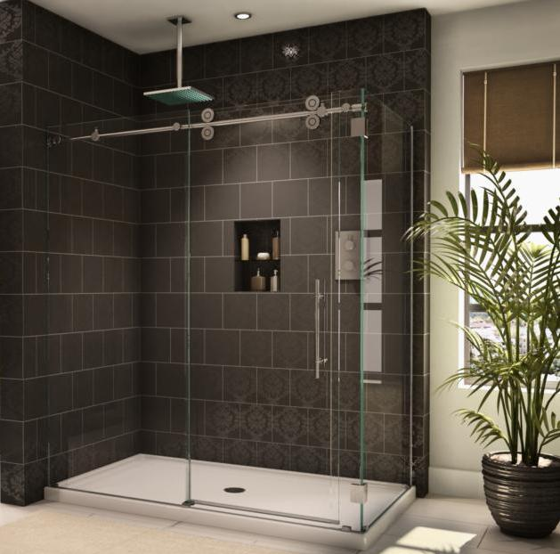 Curtain shower glass Curtain as bathroom door   Decorate the house with beautiful curtains. Replacing Glass Shower Doors With A Curtain. Home Design Ideas